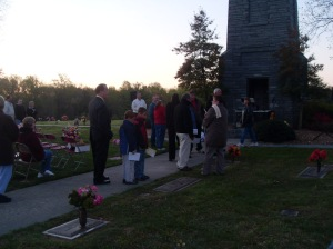 Getting Ready for The Easter Sunrise Service